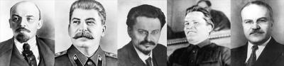 Персонажи заметки: Ленин, Сталин, Троцкий, Киров, Молотов